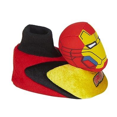 Amazon.com   Marvel Comics Toddler Boys Iron Man Slippers Sock Top ...