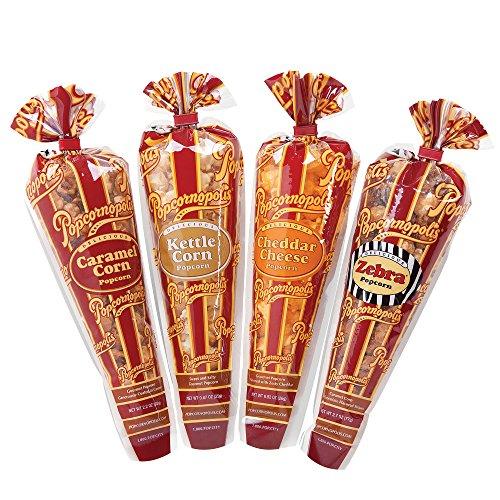 (Popcornopolis Gourmet Popcorn Mini Cone Premium 24 Pack (Gift Cone))