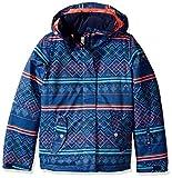 Roxy Big Girls' Jetty Snow Jacket, Sodalite Blue_Asta Fairisle, 8/Small