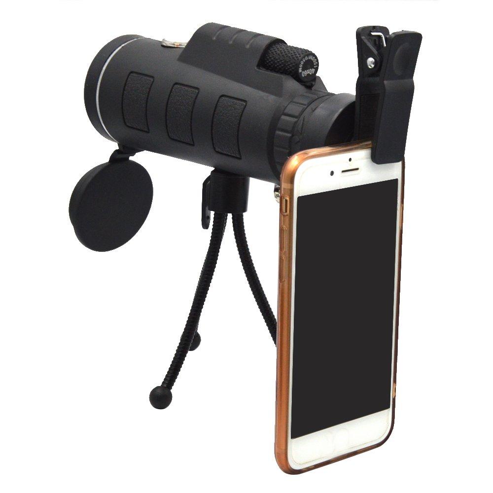 43 X 60 Mini port/átil HD visi/ón nocturna de gran angular monocular de tubo /único telescopio de alta potencia con caja de seguridad para tr/ípode de almacenamiento para el tel/éfono m/óvil de disparo
