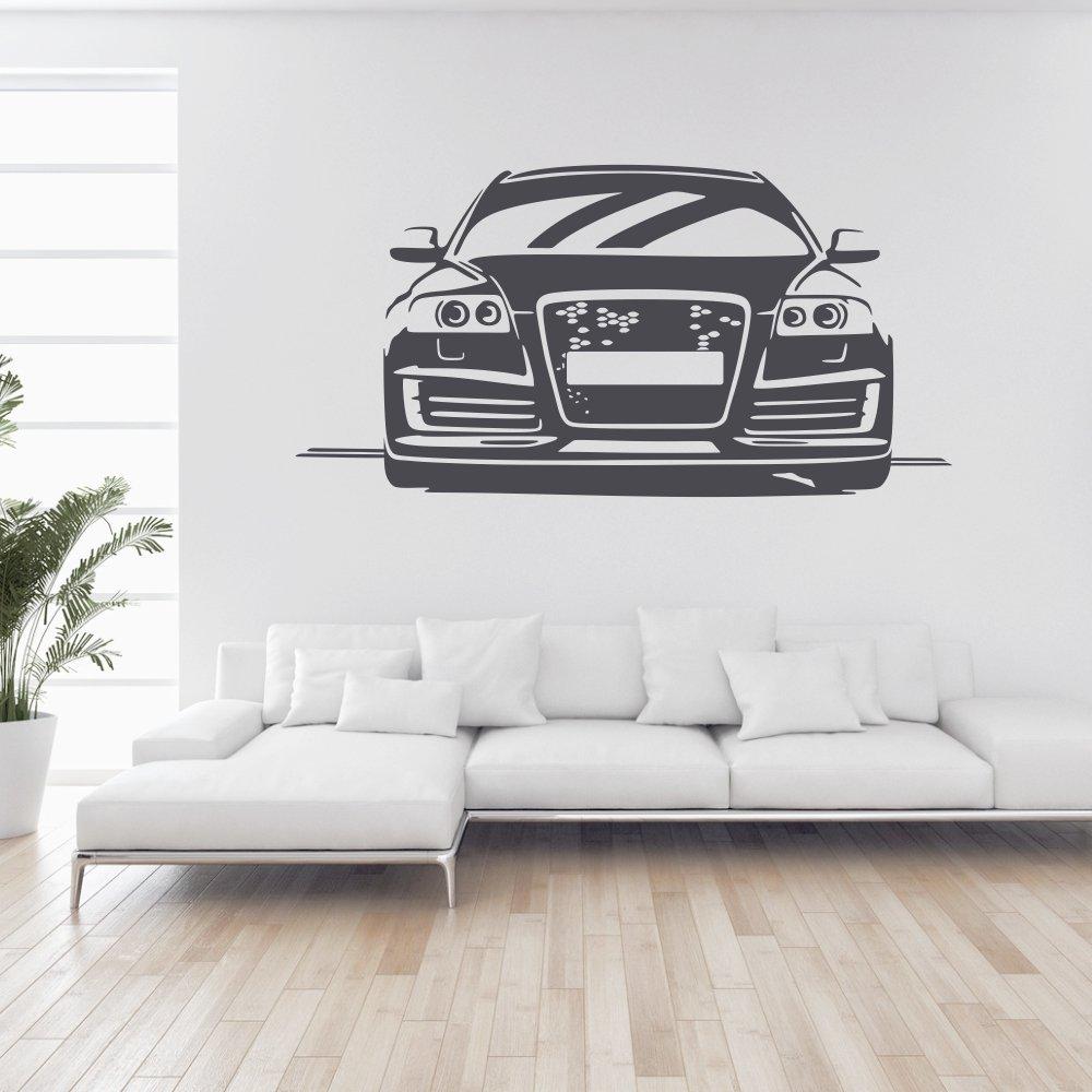 Malango® Wandtattoo - Auto A6 S6 Tuning Wand Wand Wand Tattoo Wandaufkleber Fahrzeug Autowelt Quattro Design Style Aufkleber ca. 120 x 60 cm schwarz B00RZIT4CU Wandtattoos & Wandbilder 73aa9a