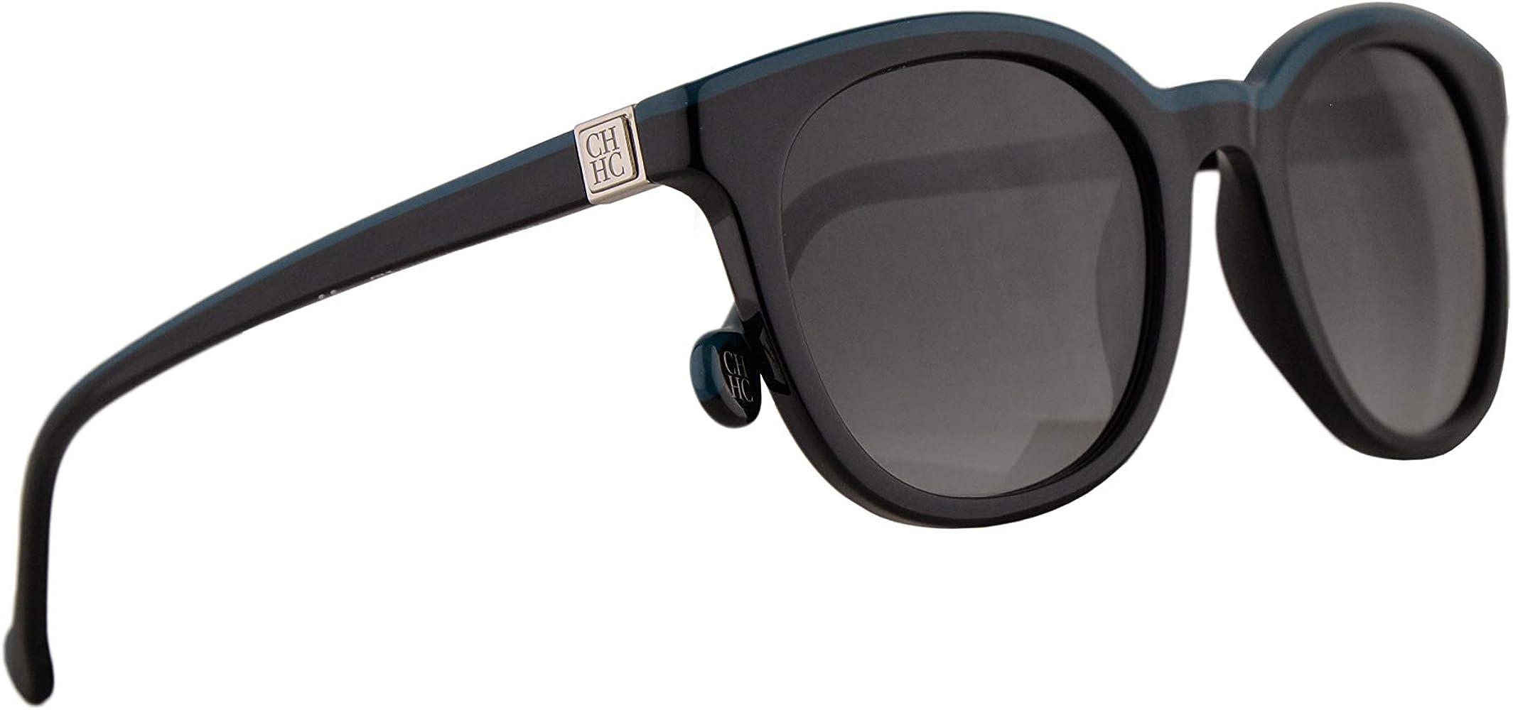 Carolina Herrera SHE654 Gafas De Sol Negro Y Azul Con Lentes Gris 49mm 700K SHE 654: Amazon.es: Ropa y accesorios