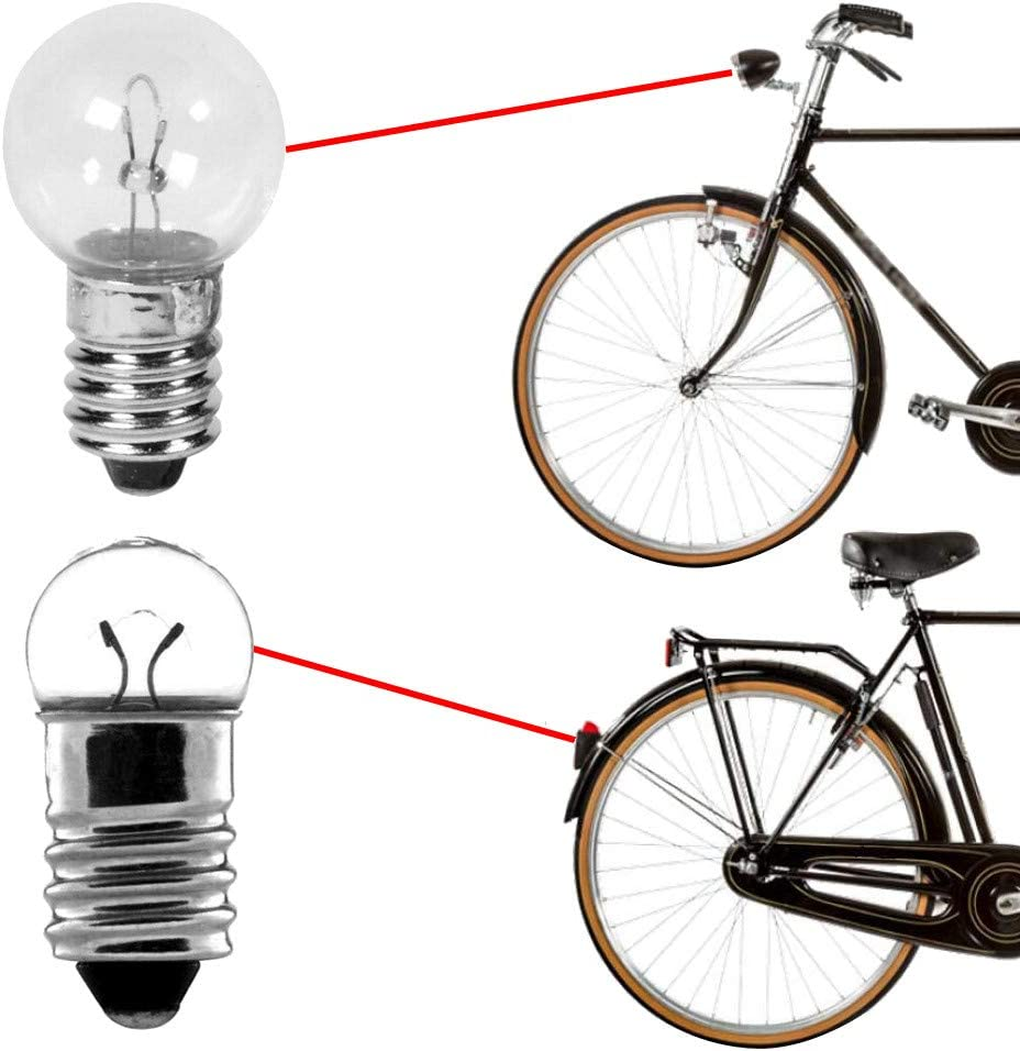 UNIVERSAL BIKE BULB SET REAR FRONT 6V 0.6W 2.4W VINTAGE OLD LAMP DYNAMO LIGHT