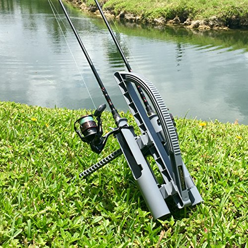 rod runner express fishing rod rack gray portable