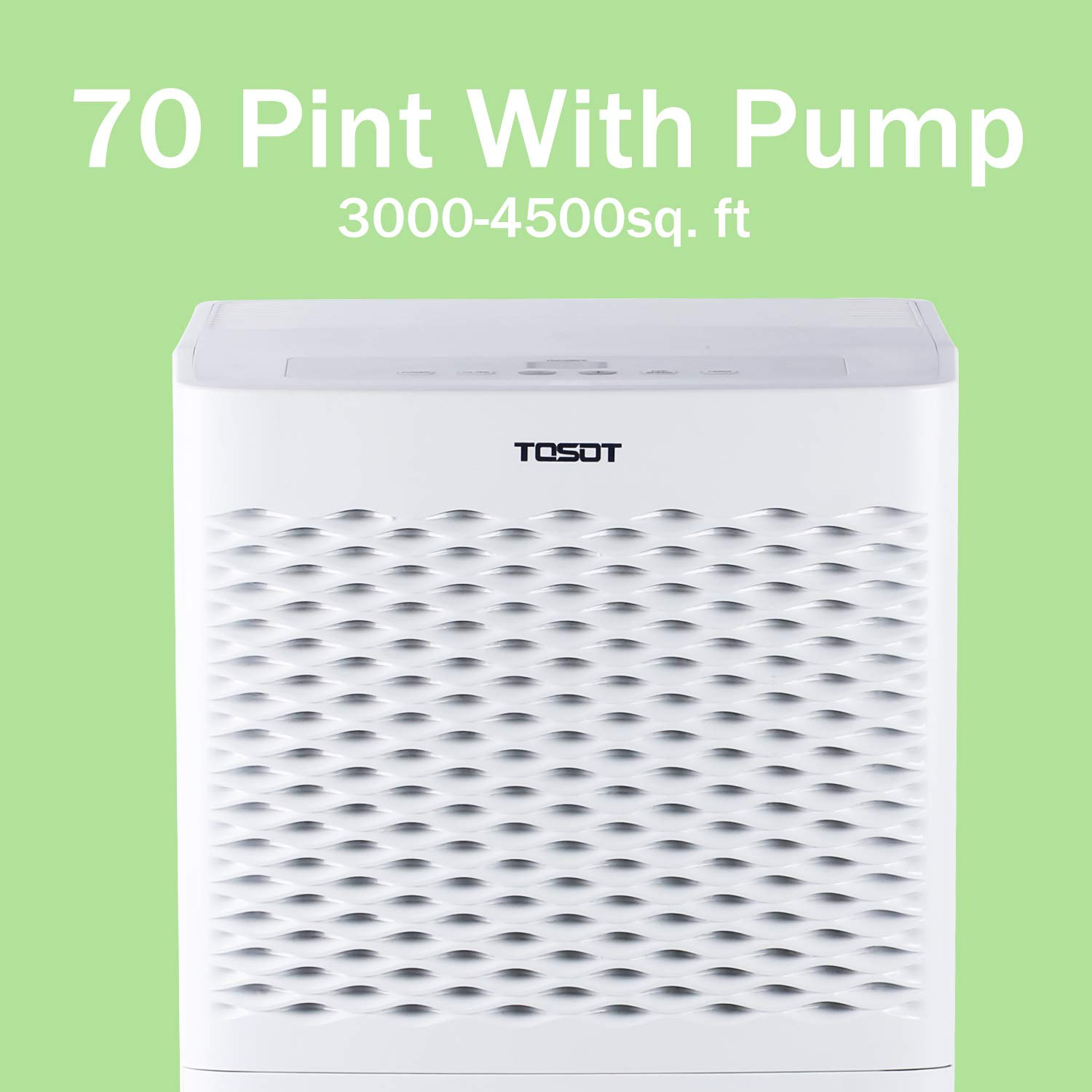 TOSOT 70 Pint Dehumidifier with Pump for Large Rooms up to 4500 Square feet – Energy Star, Quiet, Portable with Wheels, and Internal Pump Drain – Dehumidifiers for Home, Basement, Bedroom, Bathroom