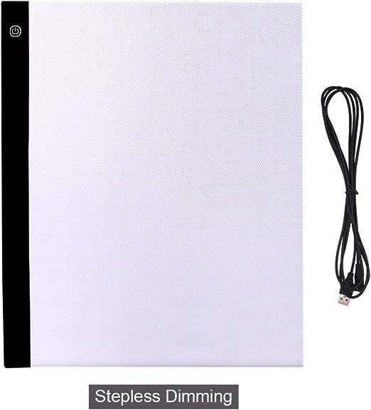 YITEJIA Delgada y portátil A3 luz LED Pad Gráfico tabletas Artesanía Rastreo Caja de luz Copia del álbum Pintura Escribir Tableta de Dibujo Grupo de bocetos (Color : A3 Stepless Dimming): Amazon.es: