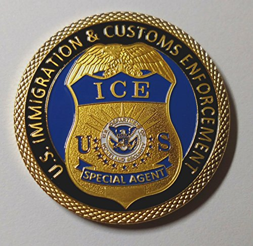 ICE Immigration and Customs Enforcement Colorized Challenge Art Coin