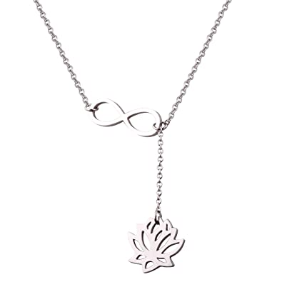 Amazoncom Reebooo Lotus Flower Jewelry Personalized Infinity Lotus