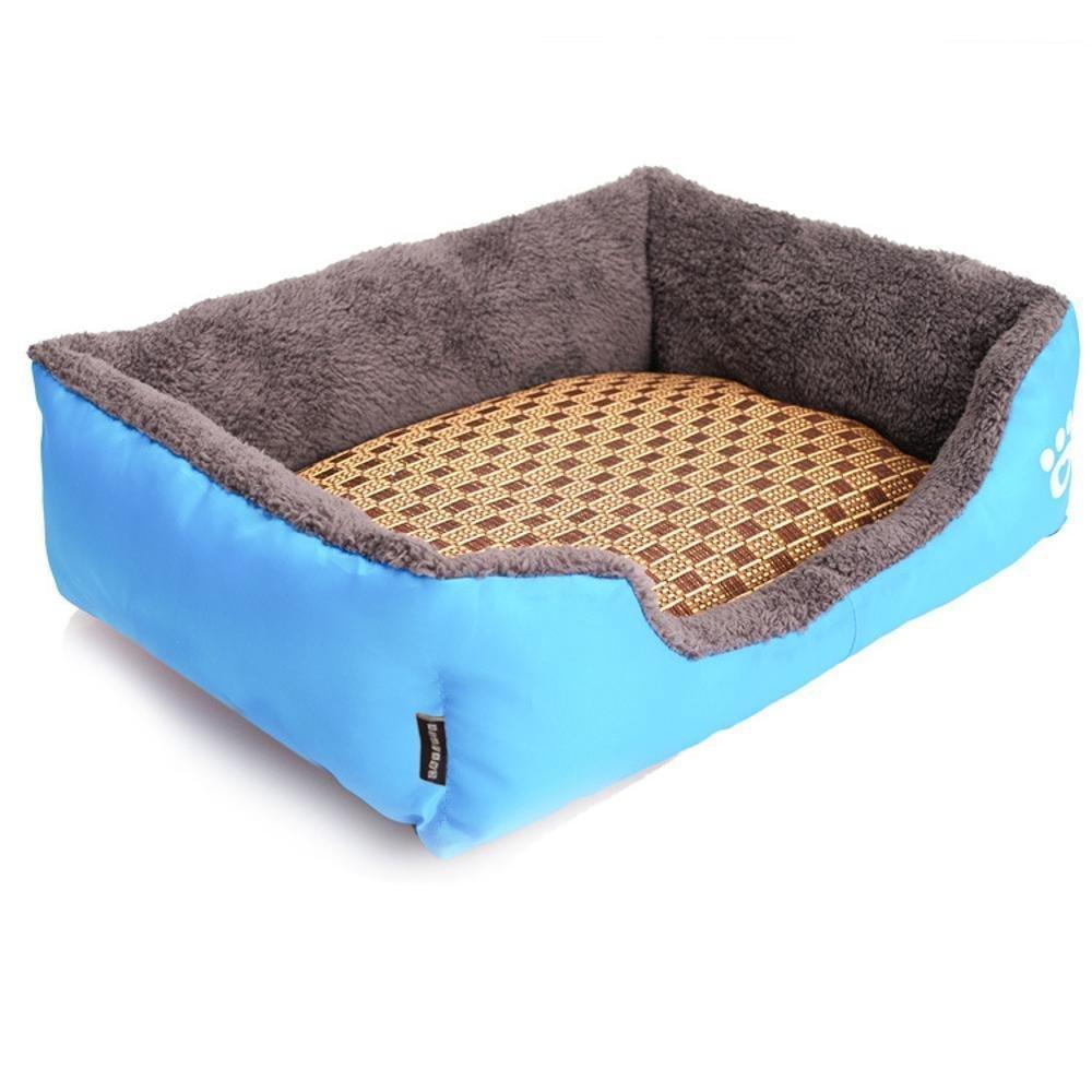 B M B M YunYilian Pet Bolster Dog Bed Comfort Pet Supplies Candy color Square pet Litter Dog Bed cat Litter mat (color   B, Size   M)