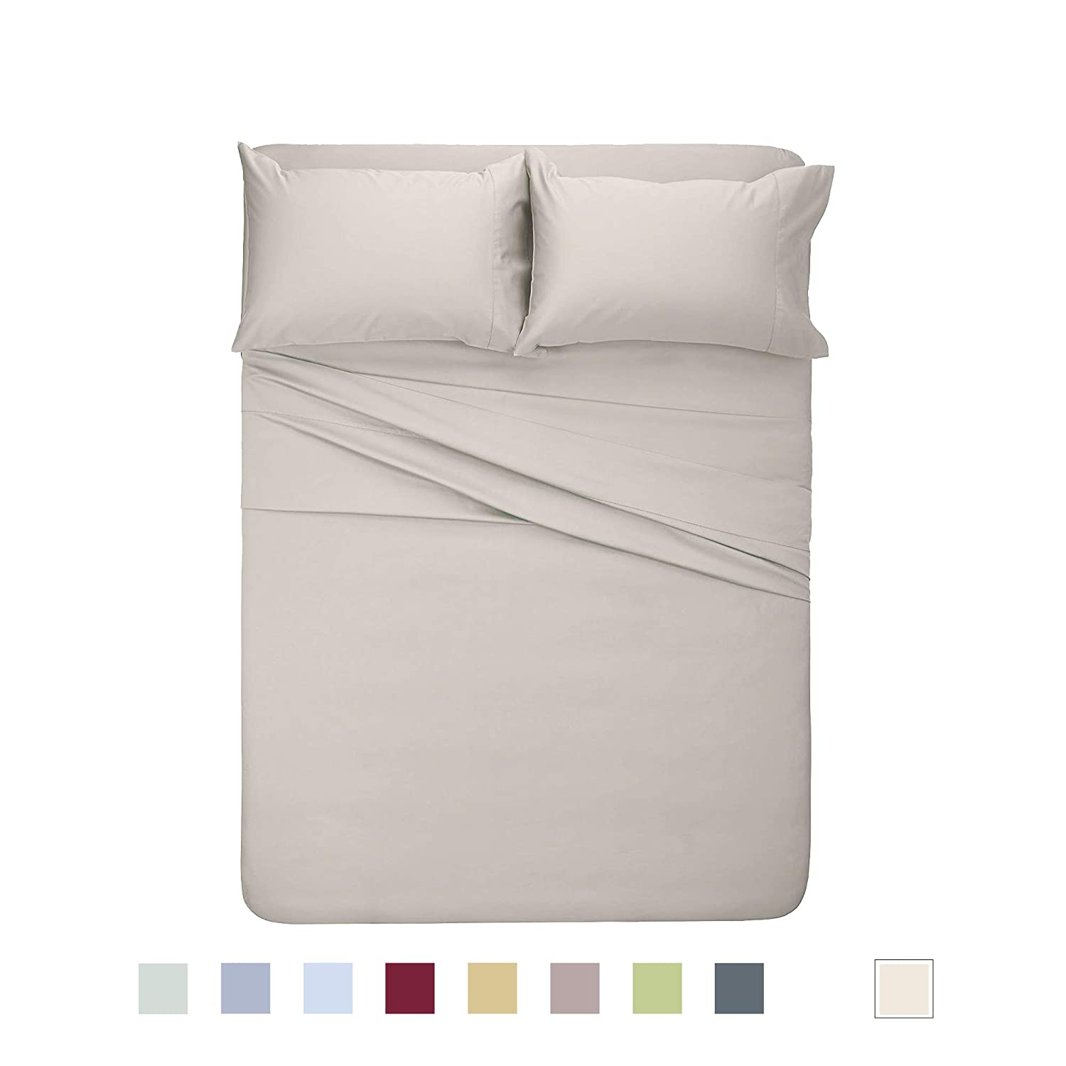 Y2L Classic Bamboo Sheets 4 Piece Bed Sheet Set -100/% Viscose from Bedding Luxuriously Soft and Comfortable Cool Bedding Best for Gift 10 Colors Sheet King, Sky