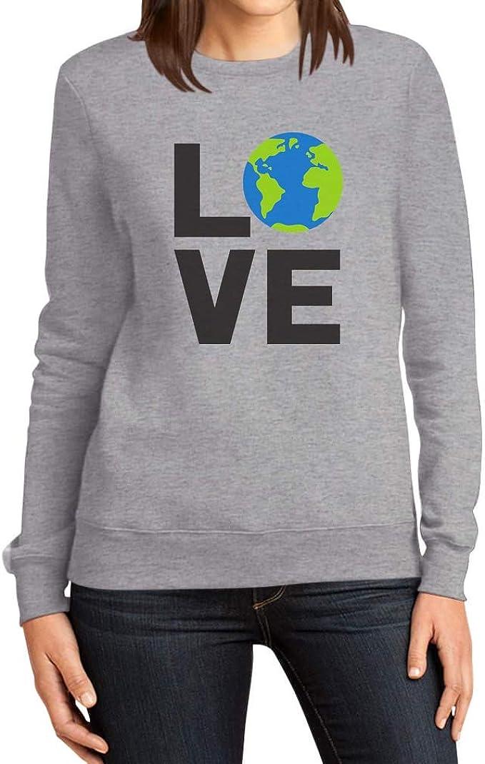 Shirtgeil Love per la Giornata Mondiale della Terra Felpa con Cappuccio da Donna