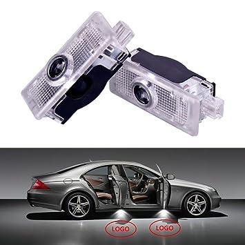 Led Per Auto Tuning.2263 5000 2x Led Lights Logo Mercedes Cla And C207 Logo And