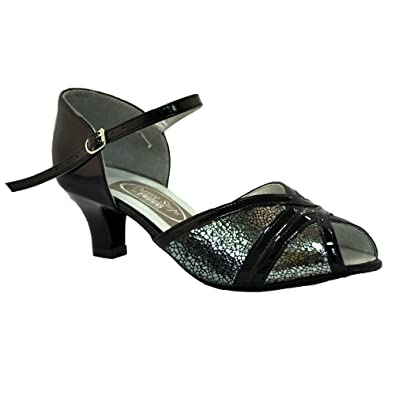 2d305bec473c Freed Ladies Wide Fitting Amethyst Ballroom Shoe in Silver  Amazon ...