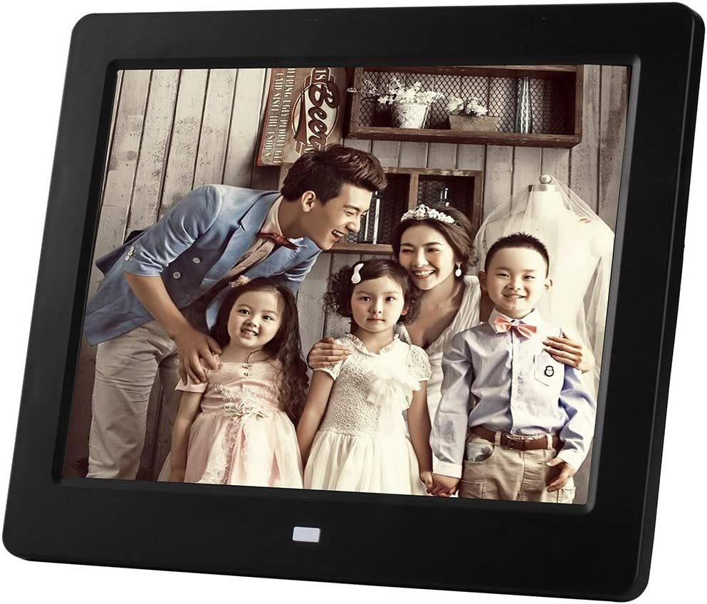 Color : Black Support USB//SD//SDHC//MMC Card Input ZhiYuan 8 inch LED Display Multi-Media Digital Photo Frame with Holder /& Music /& Movie Player Black Portable