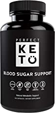 Perfect Keto Blood Sugar Support Capsules Supplement Best as Glucose Level Pills. Chromium, Berberine, Bitter Melon, Vitamins Supports Healthy Heart & Natural Blood Insulin Levels