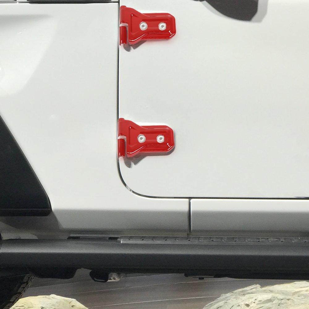 Black JeCar 8pcs Door Hinge Cover for 4 Door Jeep Wrangler 2018 JL