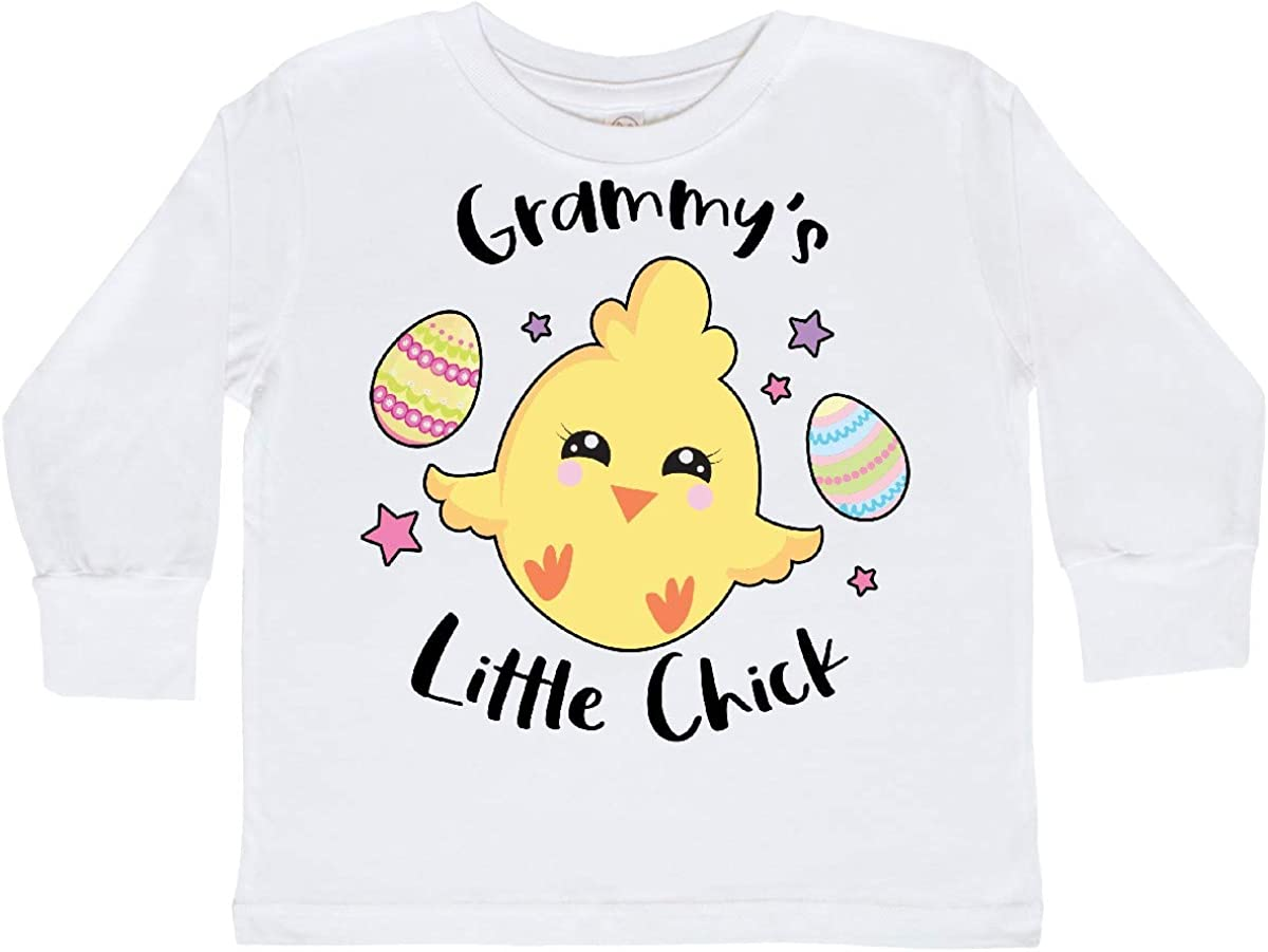 inktastic Happy Easter Grammys Little Chick Toddler Long Sleeve T-Shirt
