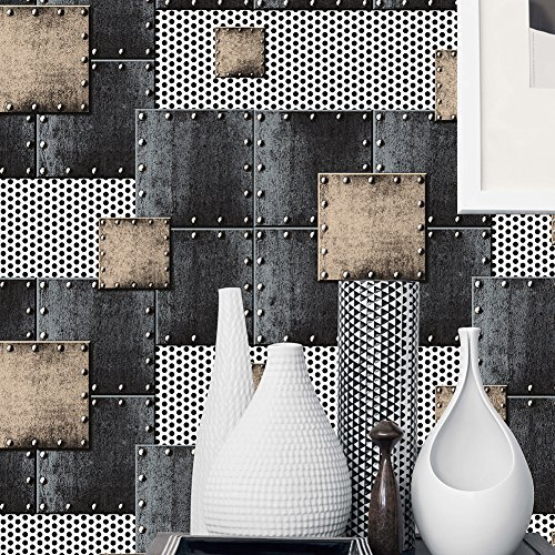 Blue Texture Wallpaper - HaokHome 360502 Modern Heavy Texture Loft Wallpaper Iron blue/Bronze/Black/Silver for Home Accent Wall 20.8