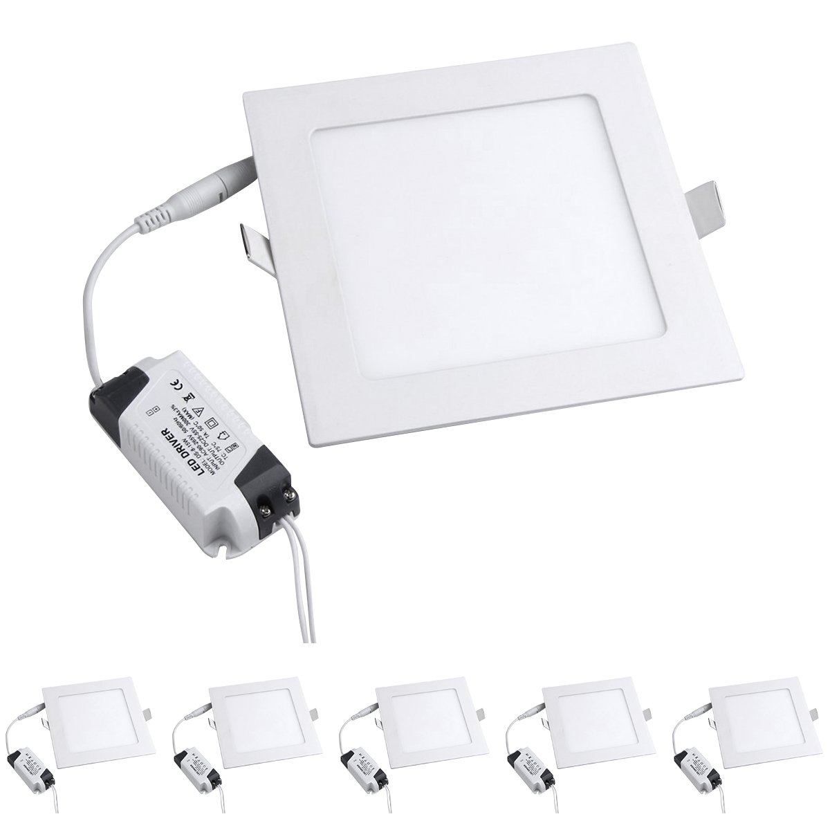 Modoao 5 Pack 18w Led Panel Light Lamp Ultrathin Square White Driver Circuit Diagram Hi Watt Recessed Downlight Ceiling Lighting With Ac85 265v Hole Size 200mm Cool Home Improvement