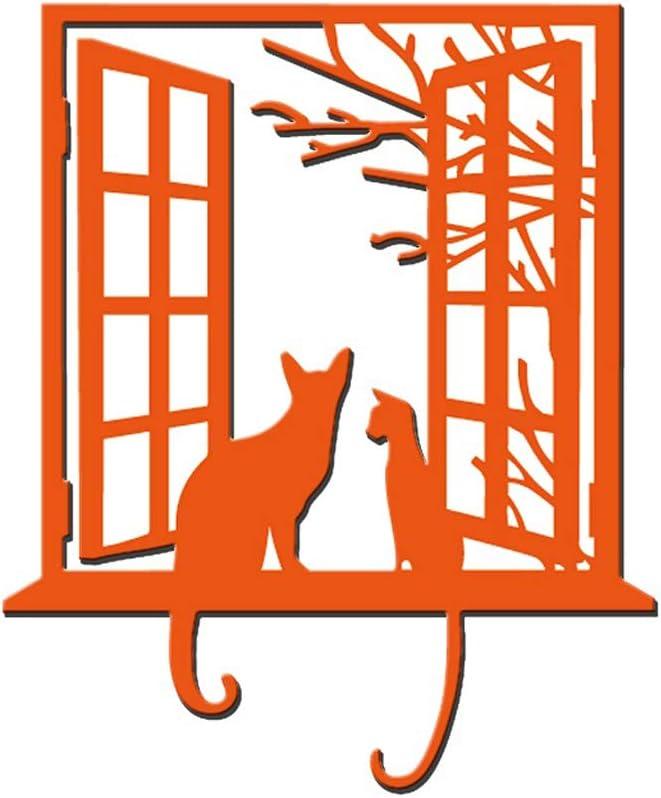 Window Cat Metal Die Cuts Cutting Dies Cut Stencils for DIY Scrapbooking Photo Album Decorative Embossing Paper Dies for Card Making Template