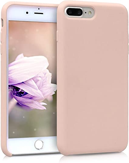 coque apple iphone 7 plus silicone rose