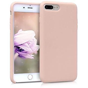 kwmobile Funda para Apple iPhone 7 Plus / 8 Plus - Carcasa de {TPU} para teléfono móvil - Cover {trasero} en {rosa palo}