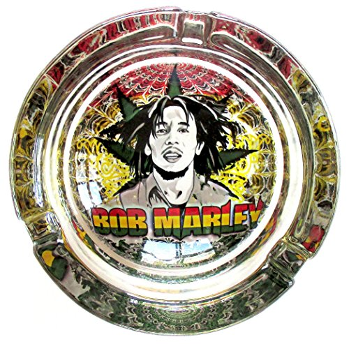 Bob-Marley-Buffalo-Soldier-Marijuana-Weed-Round-Glass-Ashtray