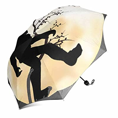 Anchengq Windproof Automatic Open And Close Foldable Umbrella, Travel Compact Unbreakable Rain And Sun Umbrella,W37.4 H11.42