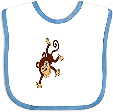 Amazon Com Monkey Cartoon Png Baby Bibs Unisex Toddler Baby Shower Gift Clothing