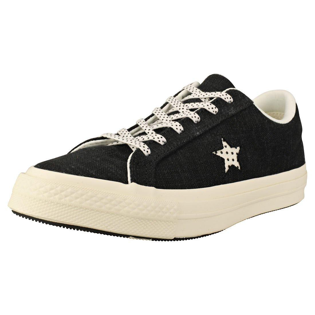 Converse Lifestyle One Star Ox Suede, Zapatillas de Deporte Unisex Adulto 39 EU|Negro