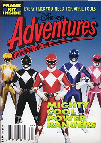 Disney Adventures Magazine for Kids: April 1994 Issue: Mighty Cool Power Rangers (Every Trick you need for April Fools!) (Power Rangers Magazine compare prices)