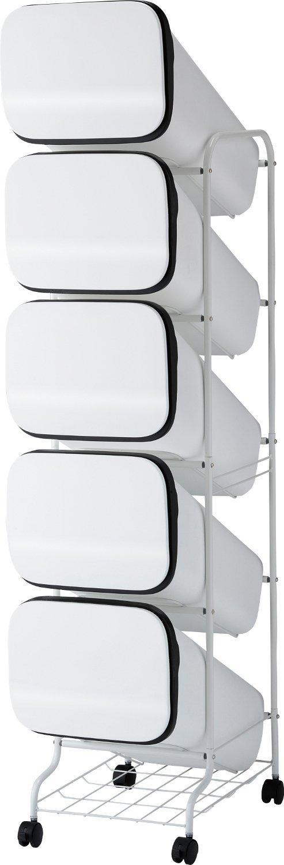 リス ゴミ箱 smooth スタンドダストボックス5P スリム 20L×5 ホワイト B019XESFA0 ホワイト ホワイト