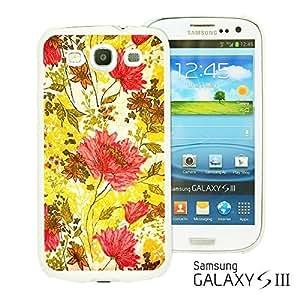 OnlineBestDigital - Flower Pattern Hardback Case for Samsung Galaxy S3 III I9300 - Red and Yellow Flower