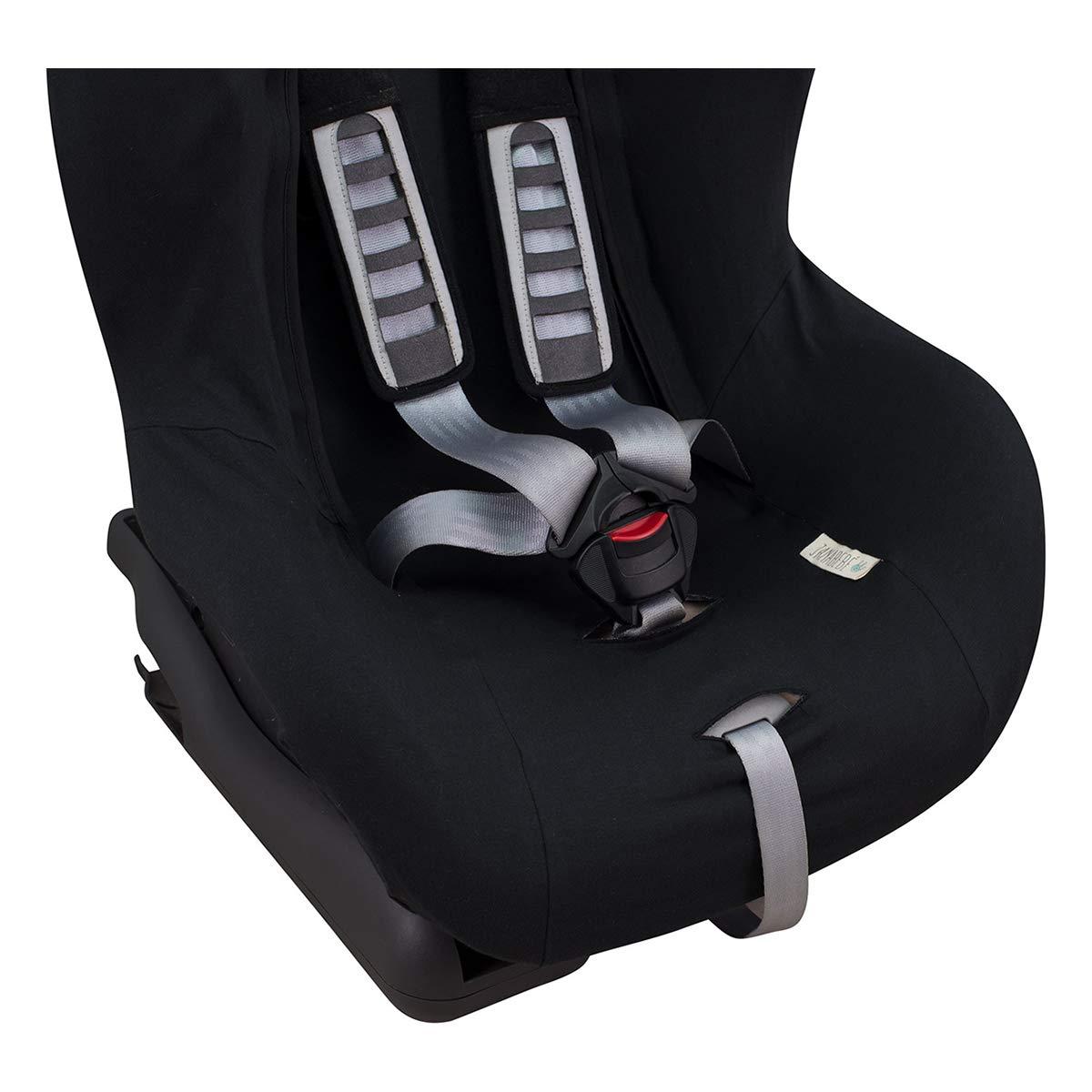 JANABEBE Bezug Universal f/ür Auto-Kindersitz Gr 1 2 3 BLACK STAR