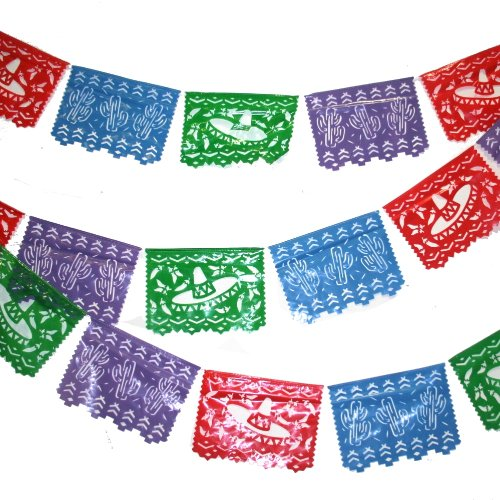 Cheap  Fun Express - Plastic Mexican Cutout Banner Plastic. (100 feet. x 10