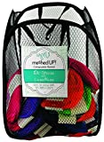 Collapsable Meshed Storage Organizer Basket, Assorted Colors - 13'W x 19.5'H
