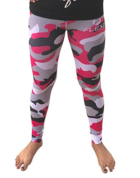3c6509946a55f Flexz Fitness Women's Pink Leggings Camo Zebra Print Pant for Yoga, Working  Out and Sports