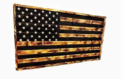 Amazon Com Ola Wooden American Flag Rustic Flag Barn Wood Flag