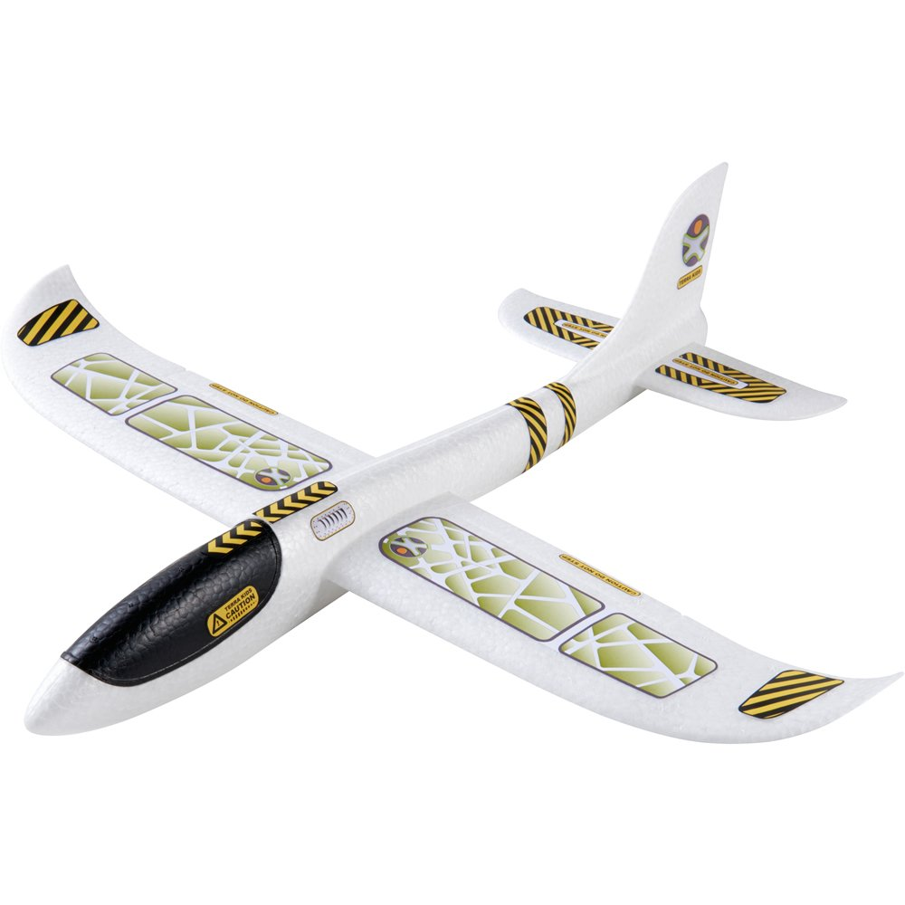 HABA Terra Kids Hand Glider - Outstanding Aerodynamics - Easy to Assemble, 19'' Long Made from Robust Styrofoam