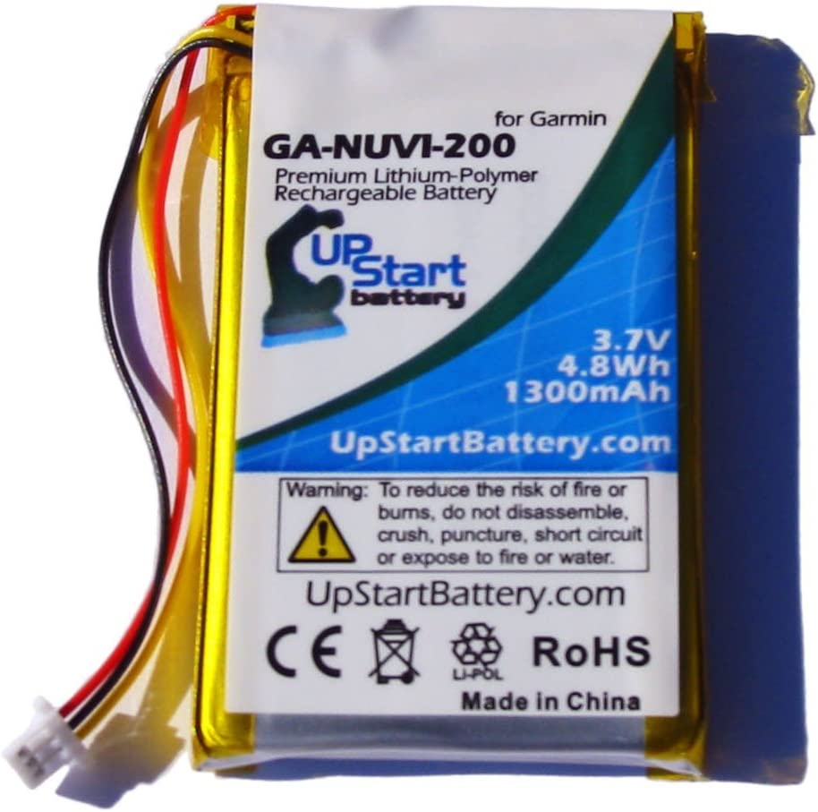 1250mAh, 3.7V, Li-Pol Replacement Battery Kit for Garmin GPS System 2 Pack Replacement Garmin Nuvi 765 Battery with Tools