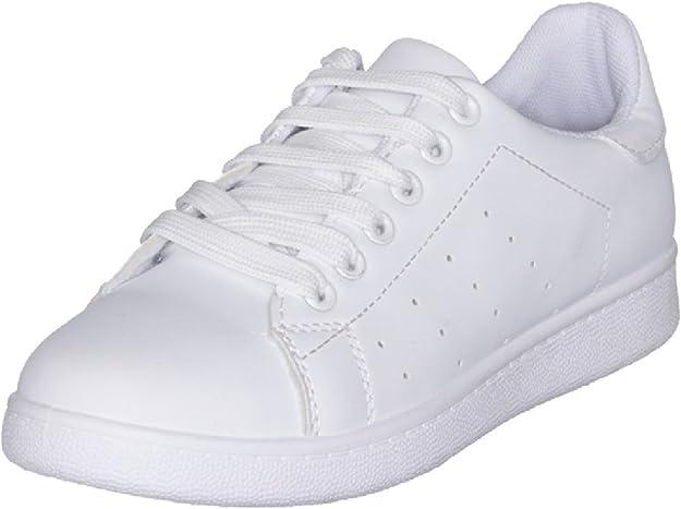 Adidas Chaussures basses cuir ou simili Grand court w blc