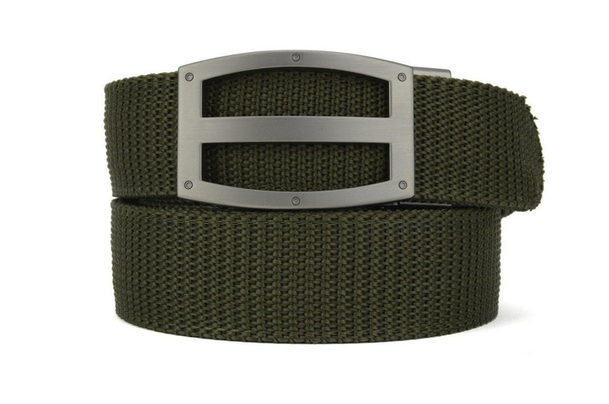 Nexbelt Ratchet System Technology - Titan OD Green PreciseFit Gun Belt, The Belt with No Holes, Men's EDC Belt With Slide Function