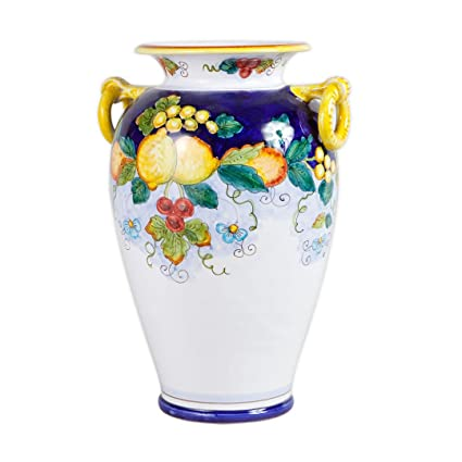 Amazon Daphne Hand Painted Italian Ceramic Umbrella Stand From
