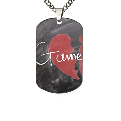 d6e02be8259e PANQJN Heart Broken Dog Tags Military Army Necklace Men - Aluminum Chain  Pendant Tactical Jewelry Gift