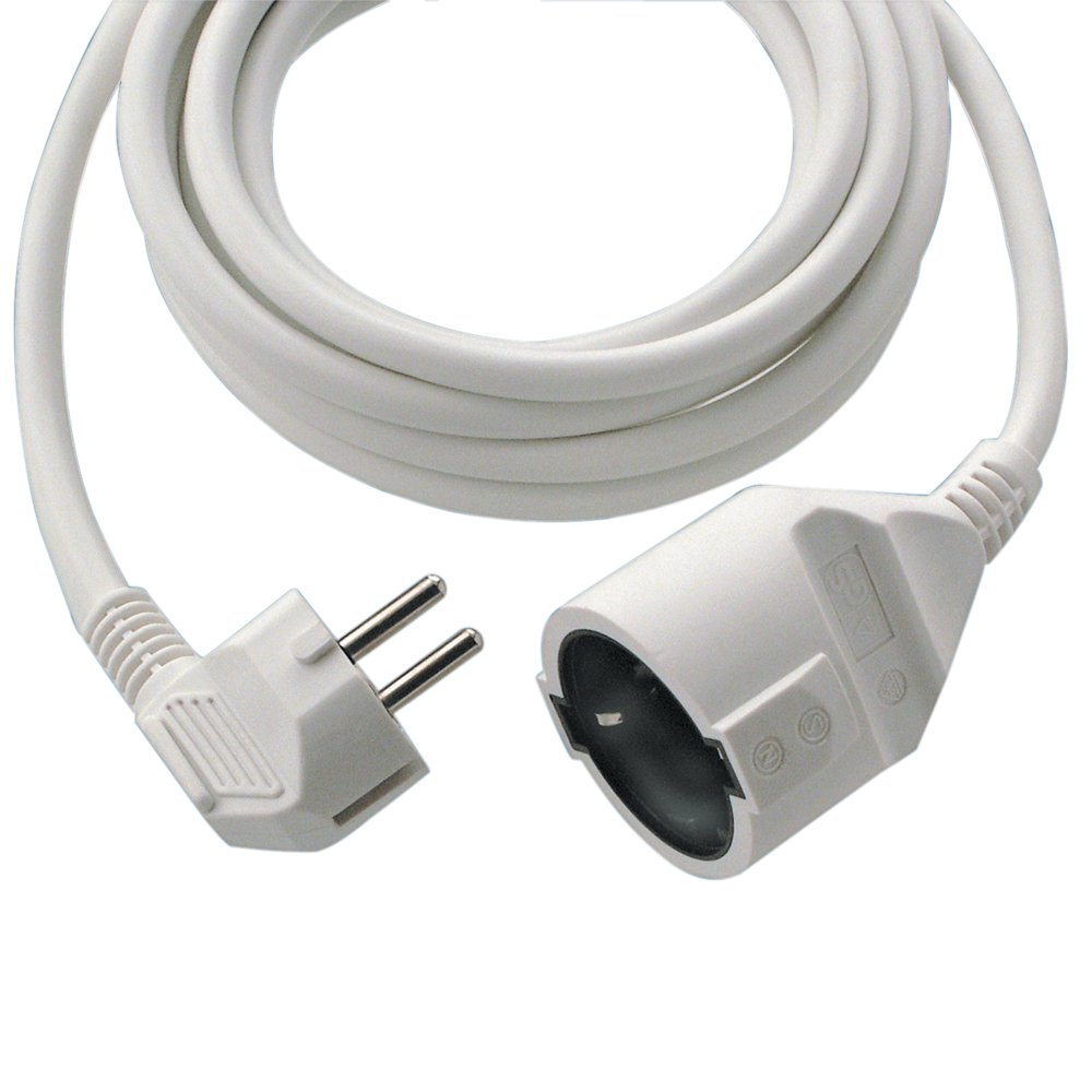 REV Ritter - Cable eléctrico alargador 3 m - color blanco product image
