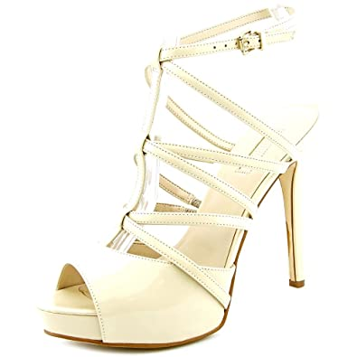 GUESS Womens Hazzel Leather Open Toe Formal Ankle Strap Sandals Tan Size 9.5 E