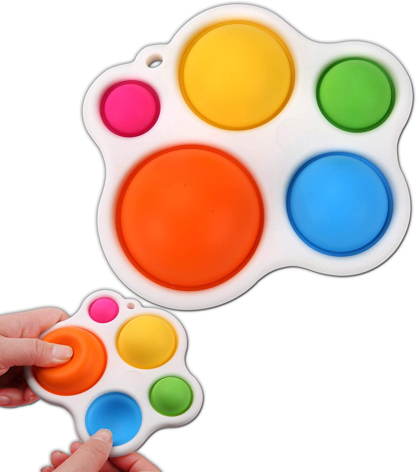 Fidget Dimple Toy, Stress Relief Toy for Anxiety Adults and Kid Simple Dimple Fidgets