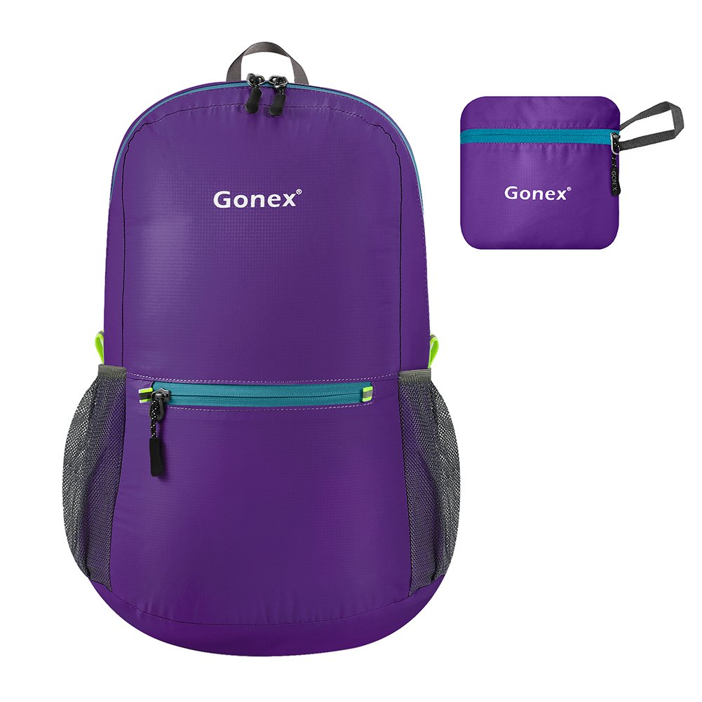 e8119cbb6c Gonex 20L Packable Backpack for Men Women Foldable Carry on Camping Outdoor  Cycling School