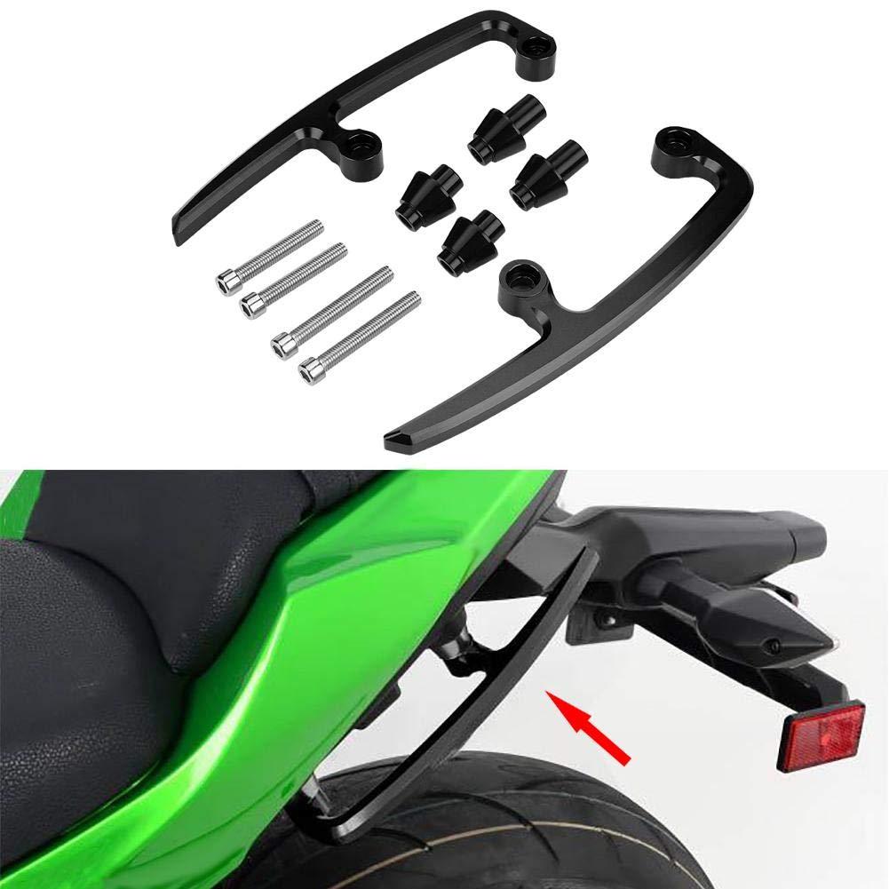 Rear Grab Bar 1 Pair of CNC Aluminum Motorcycle Passenger Rear Grab Bar Seat Rail Kit for Kawasaki Z650 17-18. Black and Green Color : Green