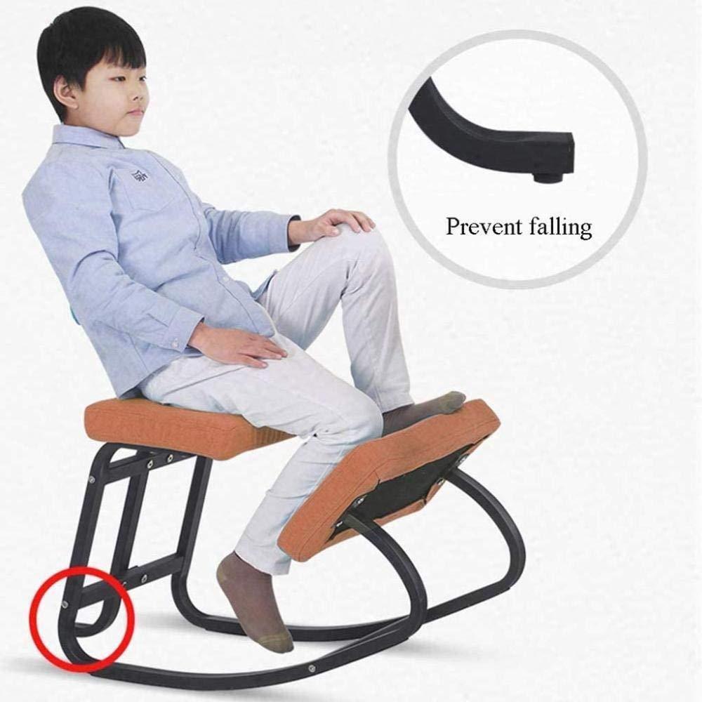 Förbättrar blodcirkulationen gungande knästol med bomullskudde anti-närsynthet stol knästol (färg: grå) Orange